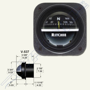 Ritchie compass (V-537W) Fekete