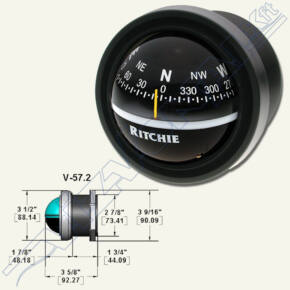 Ritchie compass (V-57.2) fekete