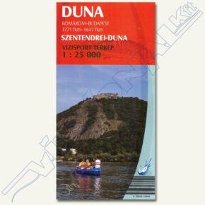 Duna vízisport térkép II (Szentendrei-Duna)