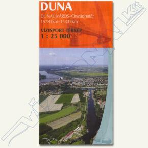 Duna vízisport térkép I (Dunaújvárostól)