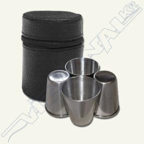 Rozsdamentes pohárkészlet 4 cl