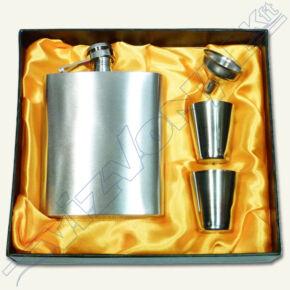 Rozsdamentes flaska készlet két pohár