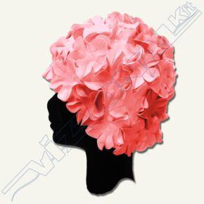 Virágmintás latex úszósapka Pinky