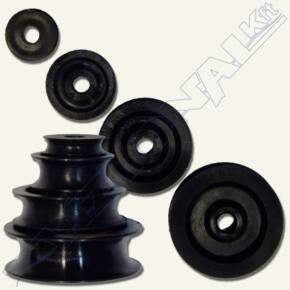 Csigakerék alu (fekete)  25-5 mm