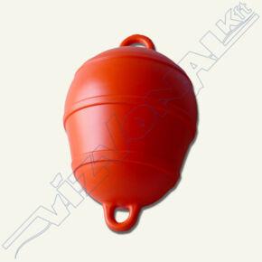 Jelzőbója, PE kemény (horgonybója) Polietilén, kétfüles, narancs
