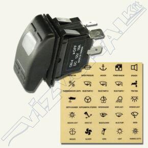 Háromállású kapcsoló (pl. fenékvíz-szivattyúhoz), Külön kapcsoló, 35x20x min.50mm