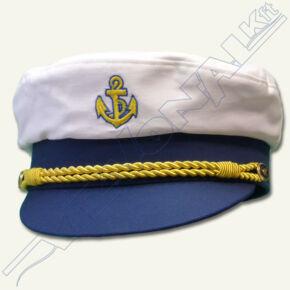 Hajóskapitány sapka (fehér) Felnőtt 59