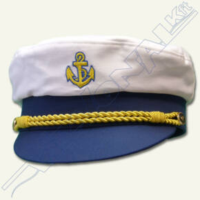 Hajóskapitány sapka (fehér) Felnőtt 58