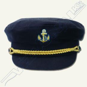 Hajóskapitány sapka (sötétkék) Felnőtt 56