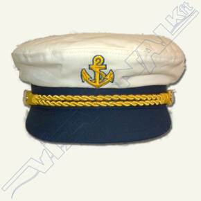 Hajóskapitány sapka (fehér) Felnőtt 62