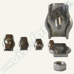 Kötélszorító (acélsodronyhoz) Simplex 2 mm