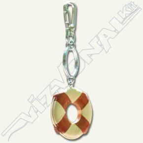 Úszó kulcstartó (fa mentőgyűrű)