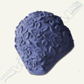 Dombormintás (retro) úszósapka, latex kék