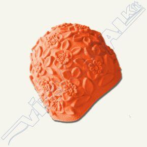 Dombormintás (retro) úszósapka, latex narancs