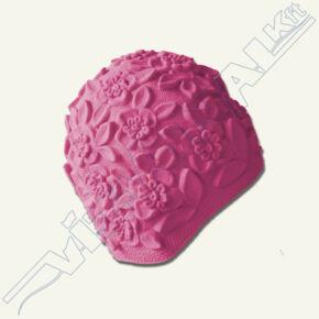 Dombormintás (retro) úszósapka, latex Pink (UV)