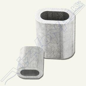 Nipli (sodronyrögzítő) 5 mm alumínium