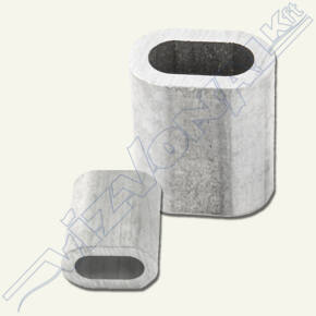 Nipli (sodronyrögzítő) 6 mm alumínium
