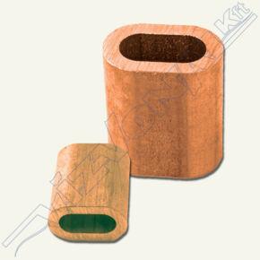Nipli (sodronyrögzítő) 3 mm réz