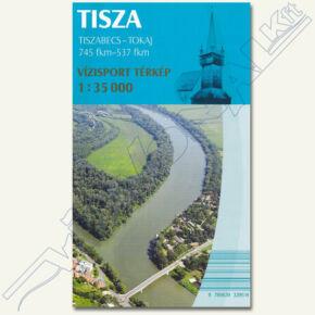 Tisza vízi sport térkép I