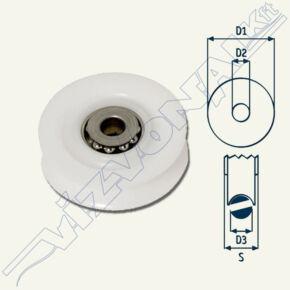 Csigakerék (csapágyas) 10 mm