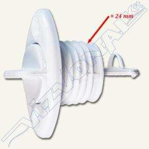 Vízleeresztő, 25mm , 2 csavaros/fehér